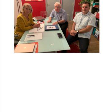Mme Bourguignon députée reçois une délégation CFTC Antennne Locale de Calais